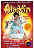 The Emperor in Aladdin at Lyceum, Sheffield.